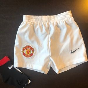 Nike Man United baby boy shorts +socks 3-6M